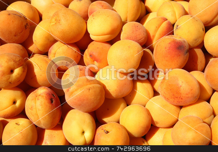 Lots of apricots outside a greengrocer shop. stock photo, Lots of apricots outside a greengrocer shop. by Stephen Rees