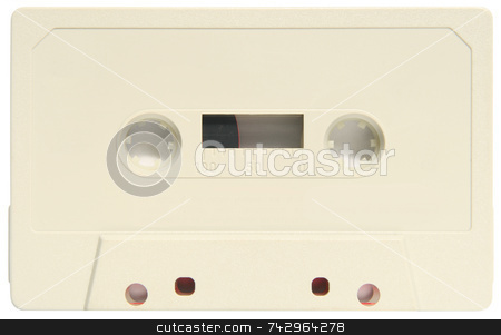 An old blank audio cassette. stock photo, An old blank audio cassette. by Stephen Rees
