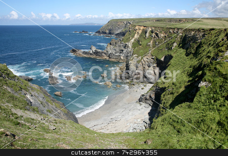 Castle giver cove, Cornwall, UK. stock photo, Castle giver cove, Cornwall, UK. by Stephen Rees