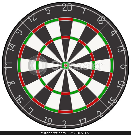 An illustration of a dartboard. stock photo, An illustration of a dartboard. by Stephen Rees