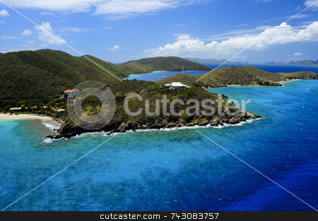 Aerial Island View stock photo, Aerial Island View by LW Photography
