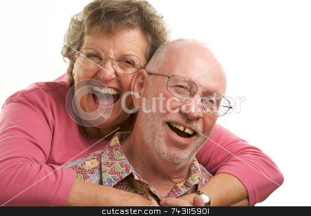 Happy Senior Couple stock photo, Happy Senior Couple poses for portrait. by Andy Dean