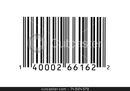 Macro photograph of a bar code stock photo, Macro photograph of a bar code by Vince Clements