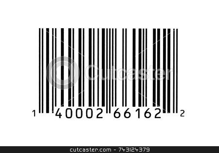 Macro photograph of a bar code stock photo, Macro photograph of a bar code by Vince Clements