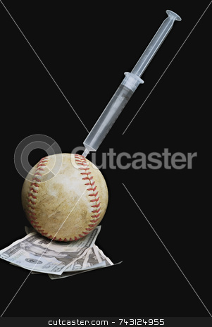 Drugs in sports stock photo, Concept of drugs in sports to gain more money by Vince Clements