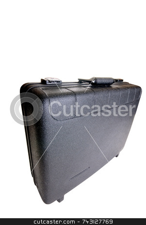 Toolbox on white stock photo, Wide angle attache toolbox by Vince Clements
