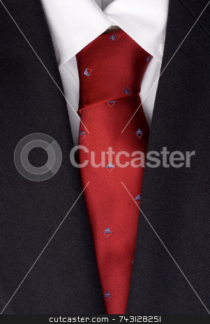 Suit and tie stock photo, Closeup of a suit and tie by Vince Clements