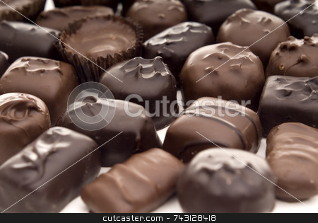 Close up of chocolates stock photo, A closeup of chocolates. Suitable for Valentines Day topics, birthday topics, anniversary topics by Vince Clements
