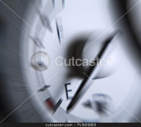 Running on empty stock photo, Zoom motion to reveal the shock and panick at and empty fuel gage by Vince Clements