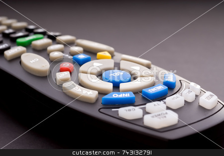 Macro of a digital cable TV remote stock photo, Macro of a digital cable TV remote by Vince Clements