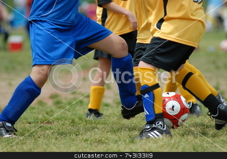 Girls Soccer stock photo, Girls competing in soccer by Vince Clements