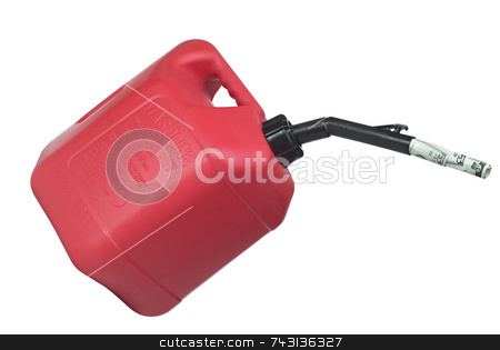 Gas can stock photo, Concept of gas can pouring money. Isolated on white by Vince Clements
