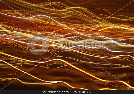 Abstract Lights stock photo, An abstract photograph using light and slow shutter speed creatively by Philippa Willitts