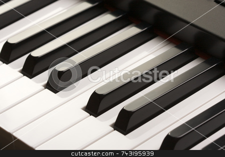 Abstraact Digital Piano stock photo, Abstraact Digital Piano by Andy Dean