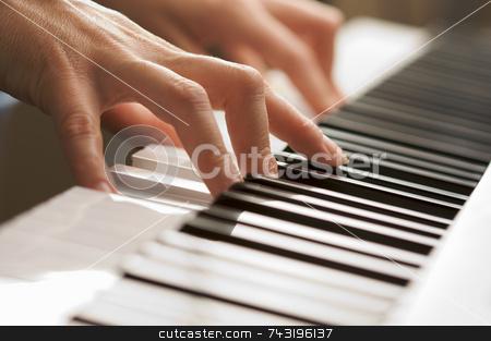 Woman's Fingers on Digital Piano Keys stock photo, Woman's Fingers on Digital Piano Keys by Andy Dean