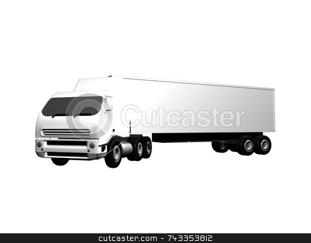 3D semi truck stock photo, 3D semi truck by John Teeter