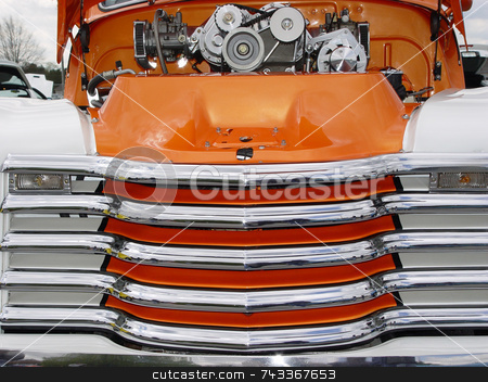 Hot Rod stock photo, Super cool pickup truck at a 50s car show in Smyrna Ga by Jack Schiffer