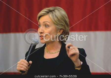 Hilary Clinton stock photo, Democratic presidential candidate Hillary Clinton has continued to campaign and fight for delegates despite trailing Barack Obama.  The democratic New York senator and former first lady campaigns with this message, 