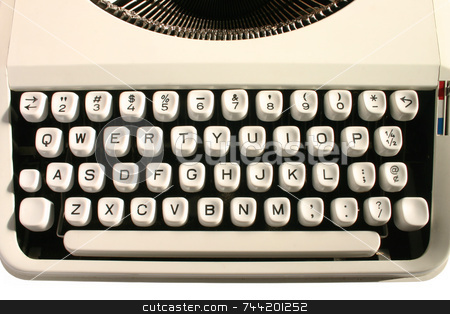 Old typewriter keys. stock photo, Old typewriter keys. by Stephen Rees