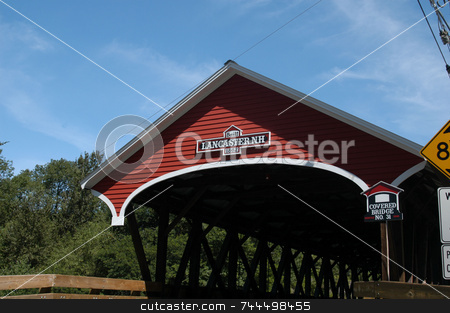 Bridge Entrance stock photo, Entrance to an old covered bridge by Tim Markley