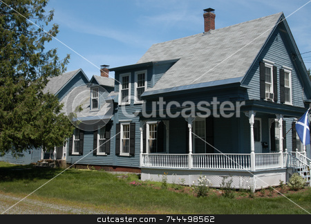 Old house stock photo, A view of an old house in New England by Tim Markley
