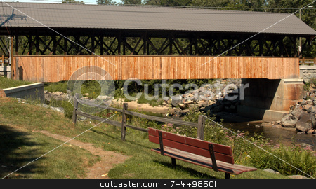 Covered Bridge stock photo, Covered bridge in Lancaster New Hampshire by Tim Markley