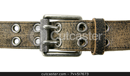 Belt stock photo, Belt with clipping path by Kjell Westergren