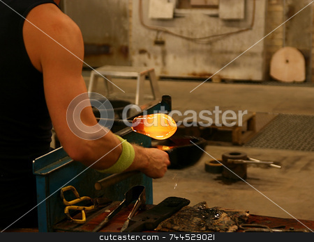 Glassblowing stock photo,  by Kjell Westergren