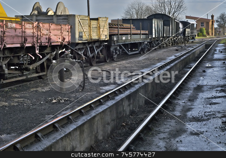 Rail Yard stock photo, The Siding by Stefan Edwards