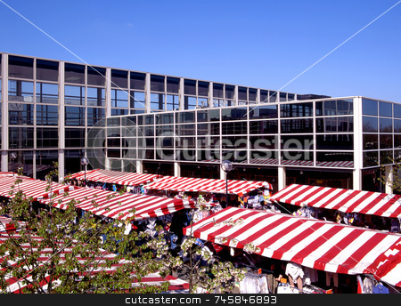 Market Day stock photo, Market day in modern city centre by Paul Phillips