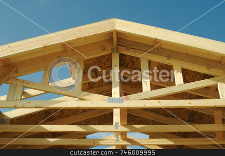 Construction Home Framing Abstract