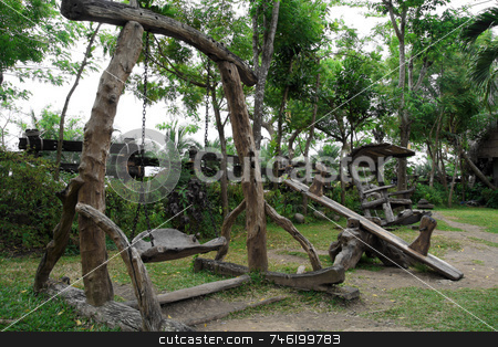 Natures playground stock photo, Childrens play ground  with nature theme by Jonas Marcos San Luis