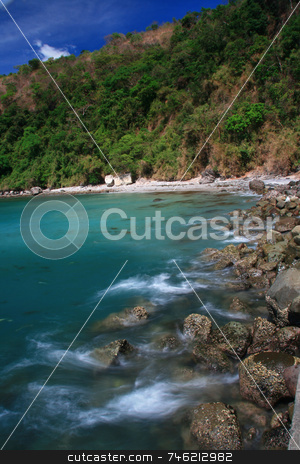 Coastal waters stock photo, Rocky coastal waters on a sunny afternoon by Jonas Marcos San Luis