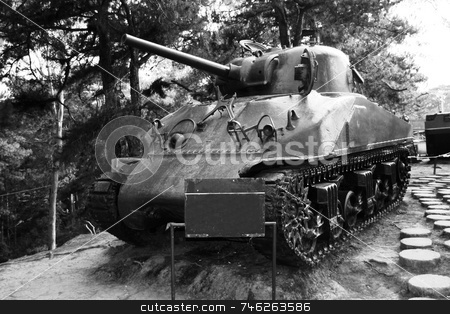Sherman tank 2 stock photo, Diagonal view of M4-A1 Sherman Tanks by Jonas Marcos San Luis