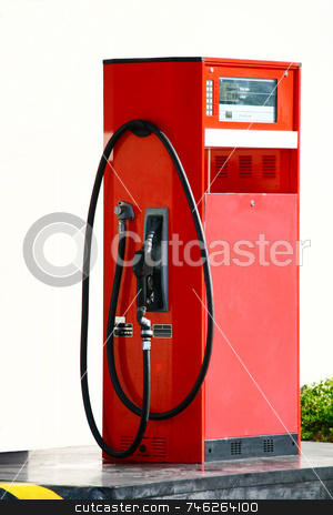 Gasoline pump stock photo, Shabby lone gasoline pump on a self-service station by Jonas Marcos San Luis