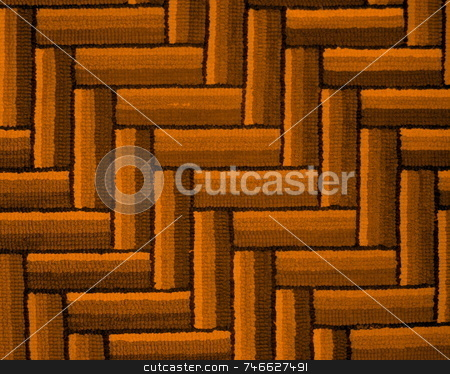 Colorful Diagonal Pattern in Textile stock photo, A diagonal design in colors, found in a wool rug by Tom and Beth Pulsipher