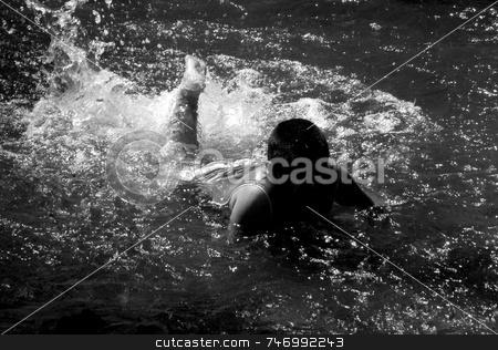 Boy in the river stock photo,  by Aivlis Rios