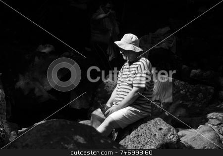 Man on the rocks stock photo,  by Aivlis Rios