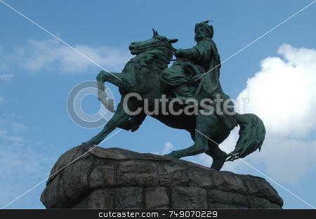 Kiev stock photo, The Monument Of Bogdan Khmelnitsky in Kiev Ukraine by Kobby Dagan