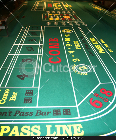 Craps stock photo, Craps Table in Casino by Darryl Brooks