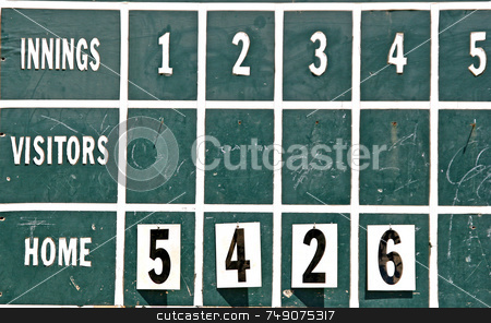Old Fashioned Score Board stock photo, An old fashioned baseball score board by Darryl Brooks