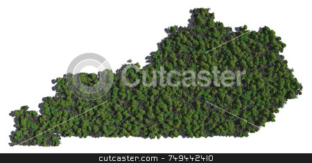 Kentucky in Trees stock photo,  by Allan Tooley