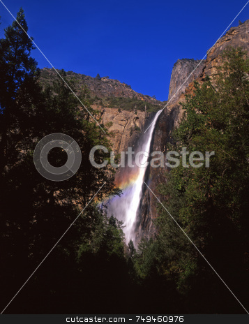 Bridalveil Falls 1 stock photo, Bridalveil Falls in Yosemite National Park, California. by Mike Norton