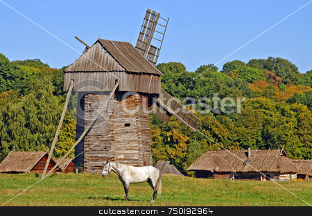 Ukranian village stock photo, Ukranian village near kiev at east europe by Kobby Dagan