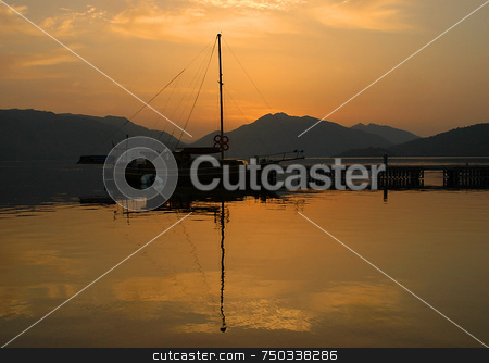 Sunrise In Marmaris stock photo, Sunrise in the gulf of Marmaris in Turkey by Kobby Dagan