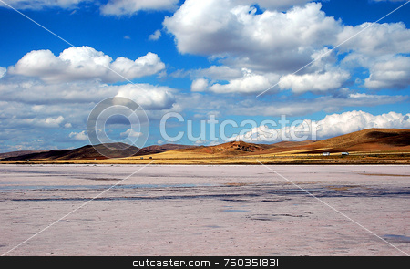 Salt lake stock photo, The big salt lake of Turkey by Kobby Dagan