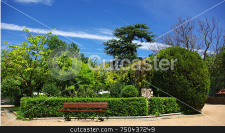 Public garden in Portugal. stock photo, Public garden in a city of the south of Portugal. by Inacio Pires