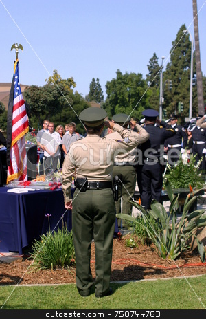 Ventura County Peace Officers Memorial Service stock photo, Ventura County Peace Officers Memorial service Thursday, May 22, 2008 by Henrik Lehnerer
