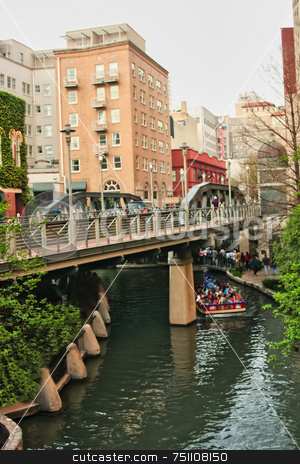 Riverwalk stock photo, The historic riverwalk in San Antonio Texas by Kevin Tietz