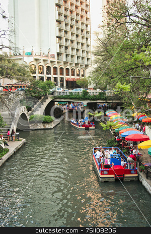 Riverwalk stock photo, The historic riverwalk in San Antonio Texas by Kevin Tietz